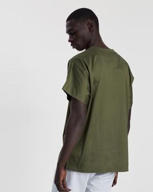 CERRUTI 1881 Shoulder Lining Oversized T shirt - T-Shirts & Singlets (Olive)