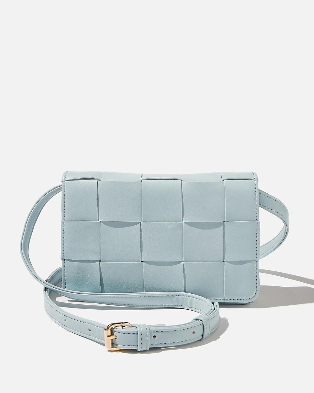 Rubi Christy Woven Cross Body Bag Handbags Illusion Blue Cross-Body