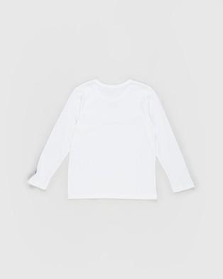 Champion - Script Long Sleeve Tee   Kids Teens - Long Sleeve T-Shirts (White) Script Long Sleeve Tee - Kids-Teens