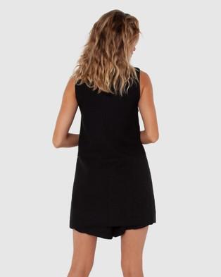 Madison The Label Charlotte Vest - Blazers (Black)