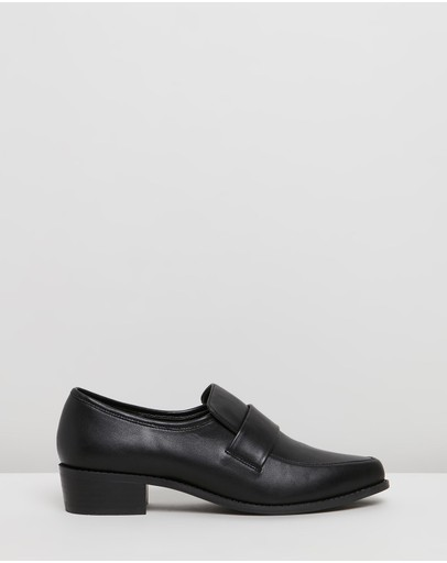 Spurr Mala Loafers Black Smooth