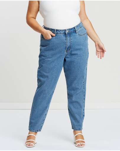 Atmos&Here Curvy - ICONIC EXCLUSIVE - Giselle Super High Waist Mom Jeans