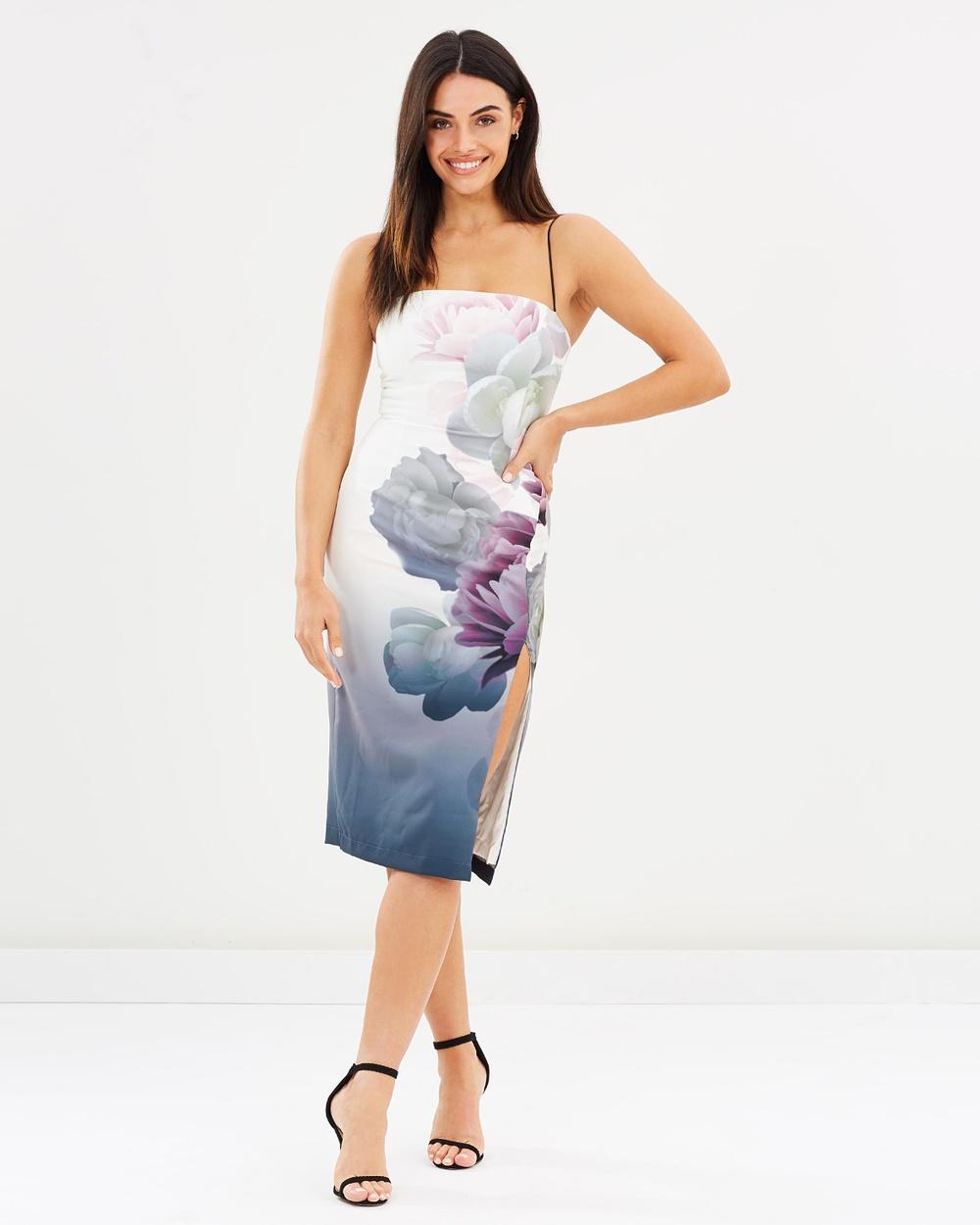 Pasduchas Blossom Classic Midi Dress Dresses Navy & Ivory Blossom Classic Midi Dress