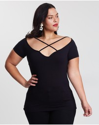 Missguided Curve - Curve Strap Detail Top