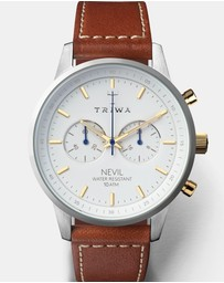 Triwa - Snow Nevil  -  Brown Sewn Classic