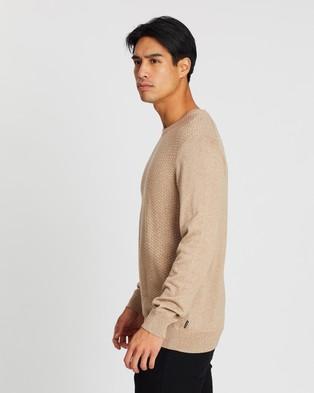 Ben Sherman Textured Knit - Jumpers & Cardigans (Camel)