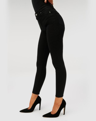 Good American Good Legs Jeans - High-Waisted (Black)