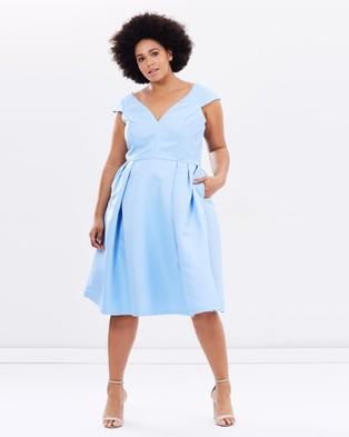 Chi Chi Curve – Blair Dress – Dresses (Blue)