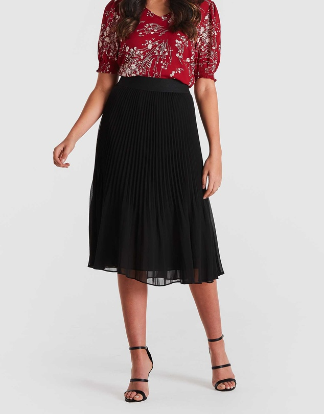 Stella - Accordion Pleat Skirt