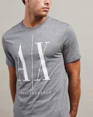 Armani Exchange AX Logo T Shirt - T-Shirts & Singlets (Grey)