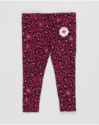 Converse - Leopard AOP Leggings - Kids