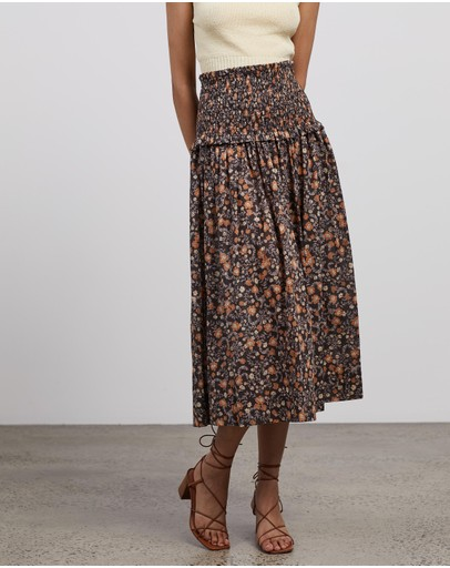 Bec + Bridge - Janice Cotton Midi Skirt