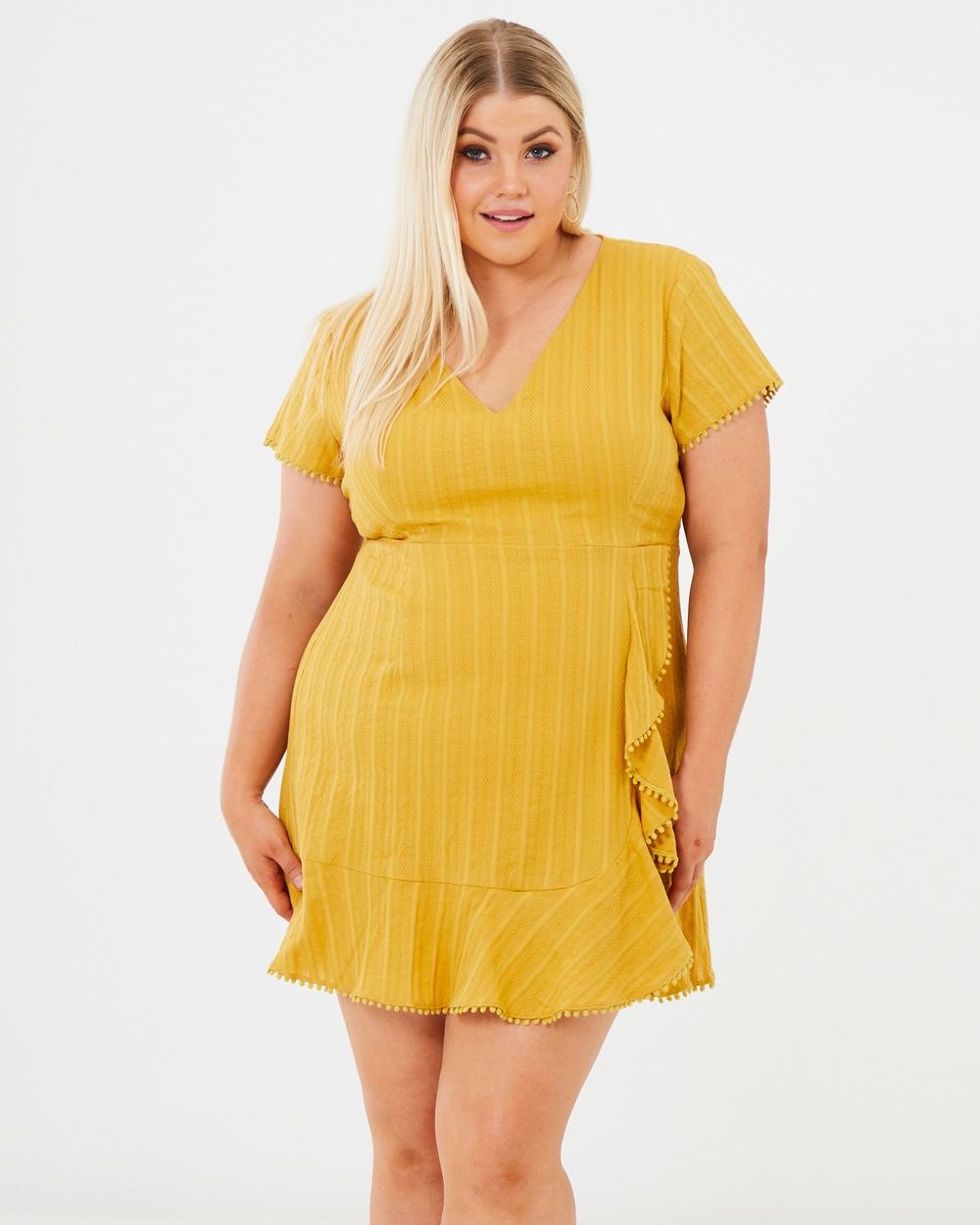Calli Curve Mustard Jolie Dress