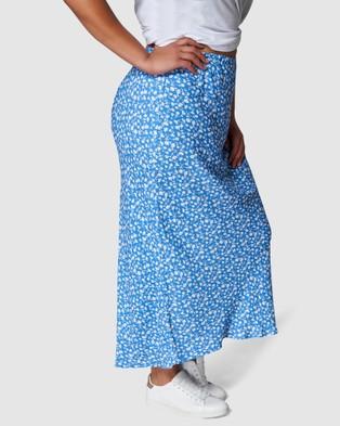 Something 4 Olivia Emme Midi Skirt - Pencil skirts (Blue)