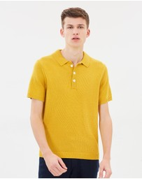 NN.07 - Knitted Short Sleeve Polo Shirt