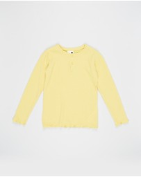 Cotton On Kids - Lucy Long Sleeve Henley Top - Kids-Teens