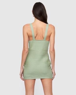 Lioness Easton Knit Dress - Bodycon Dresses (Green)