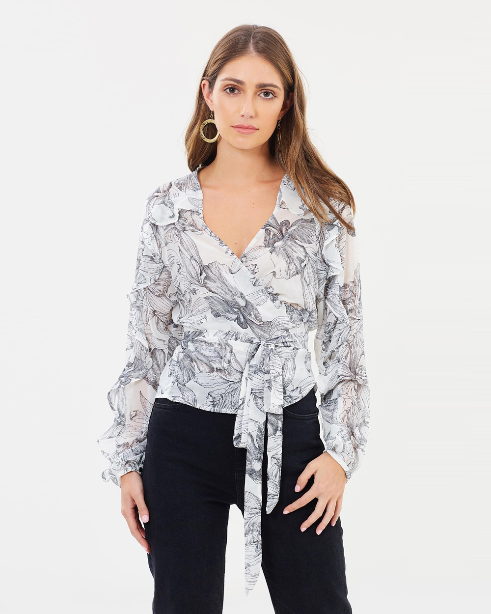 Fresh Soul Nevada Top Tops White Floral Print Nevada Top