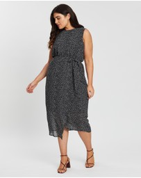 Atmos&Here Curvy - Eva Mock Wrap Midi Dress