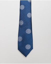 Jeff Banks - JB Silk Face Large Spot Tie