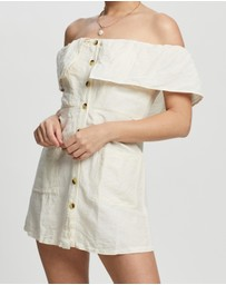 TOPSHOP Petite - Petite Bardot Mini Dress