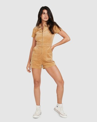 Insight Avianna Cord Boilersuit - Jumpsuits & Playsuits (TAN)