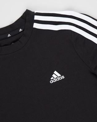 adidas Performance Must Haves 3 Stripes T Shirt   Kids Teens - T-Shirts & Singlets (Black & White)