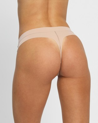 Calvin Klein Perfectly Fit Flex Thong - Thongs & G-Strings (Honey Almond)