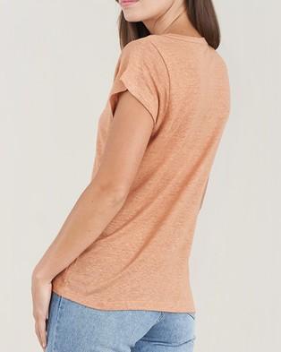Amelius Newport Linen T Shirt - T-Shirts & Singlets (Rust)
