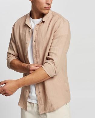 AERE LS Linen Shirt Casual shirts Sesame