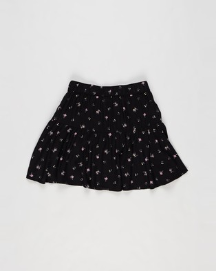 Abercrombie & Fitch Circle Skort   Teens - Skirts (Black Grounded Ditsy Floral)