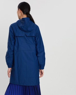 RAINS Long W Jacket - Coats & Jackets (Klein Blue)