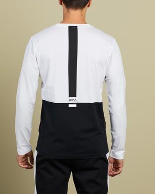 BOSS - Long Sleeve Stretch Cotton T Shirt T-Shirts & Singlets (Black) T-Shirt
