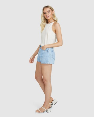 Alice In The Eve Phoebe Racer Slip Top - Tops (OYSTER)