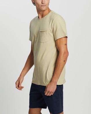 Staple Superior Organic Organic Cotton Pocket Tee - T-Shirts & Singlets (Stone)