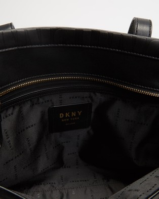 DKNY Jude Tote Bag - Bags (Black & Gold)
