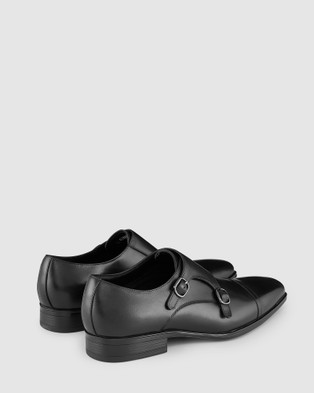 AQ by Aquila Gibney Monk Strap Shoes - Dress Shoes (Black)