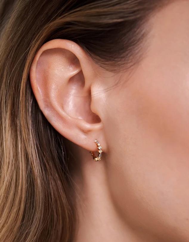 Women Ombre Gold Earrings