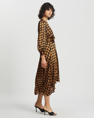 M.N.G Sabi Dress - Printed Dresses (Dark Brown)