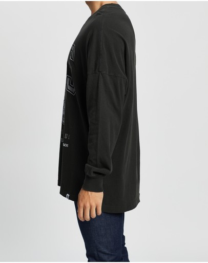Majestic Big Find Ls Oversized Tee Kings Pirate Black