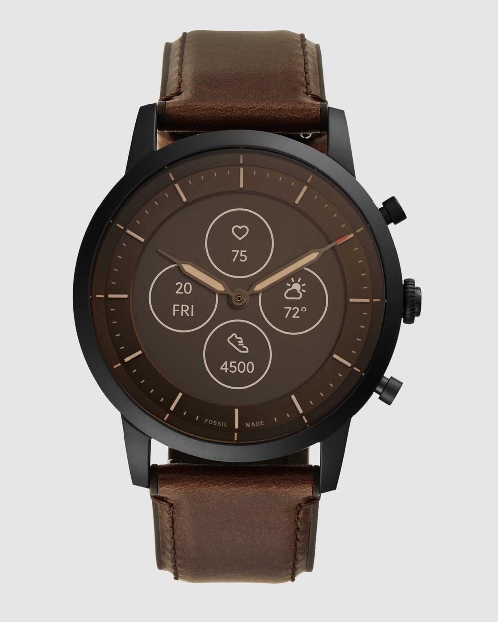 Fossil Collider Hybrid HR Brown Smartwatch Smart Watches Brown