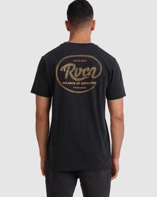 RVCA - Vasuki Short Sleeve Tee - T-Shirts & Singlets (BLACK ACID) Vasuki Short Sleeve Tee