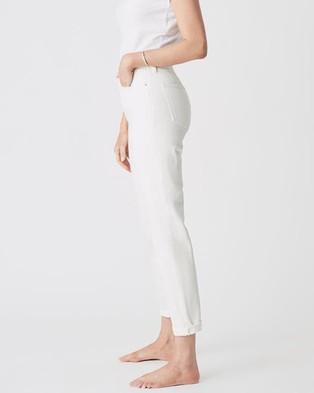 Mavi Star Jeans - Mom Jeans (Off White)