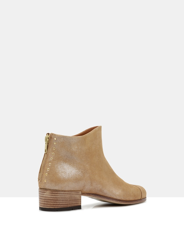 Women Beau5 Leather Ankle Boots