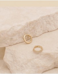 By Charlotte - Celestial 14k Gold Sleepers Earrings