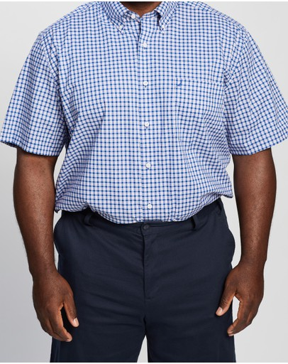 NAUTICA - Plus Short Sleeve Plaid Shirt