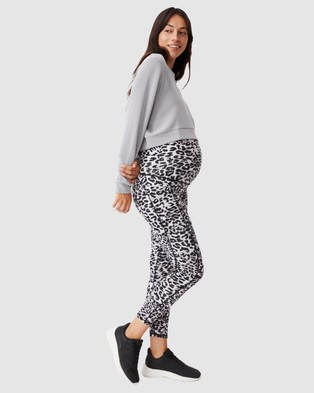 Cotton On Body Active Maternity Love You A Latte 7 8 Tights - 7/8 Tights (Winter Animal Grey)