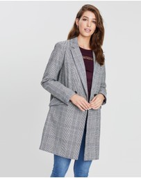 Dorothy Perkins - Check Double Breasted Coat