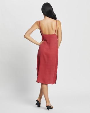 Glamorous Spotted Slip Dress - Dresses (Dark Pink Spot)