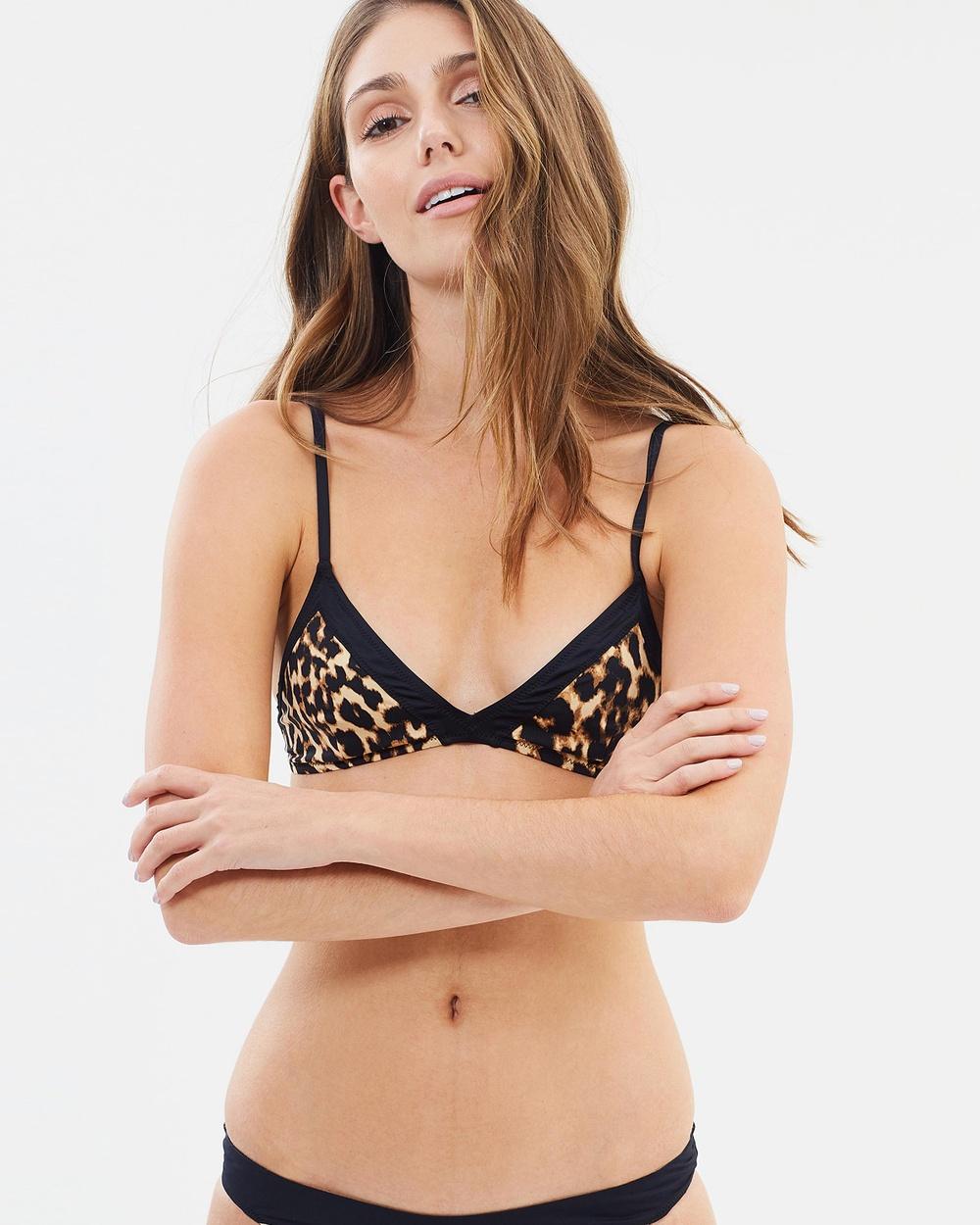 Tigerlily Estera Bikini Bra Bikini Tops Leopard Estera Bikini Bra